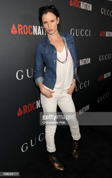 Actress Juliette Lewis arrives at the Gucci and RocNation PreGRAMMY brunch held at Soho House on February 12 2011 in West Hollywood California