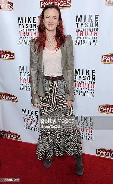 Actress Juliette Lewis arrives at the Los Angeles opening night of Mike Tyson Undisputed Truth at the Pantages Theatre on March 8 2013 in Hollywood...