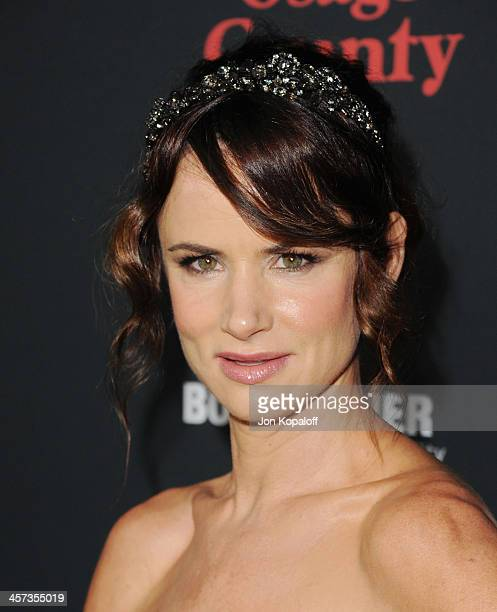 Actress Juliette Lewis arrives at the Los Angeles Premiere 'August Osage County' at Regal Cinemas LA Live on December 16 2013 in Los Angeles...