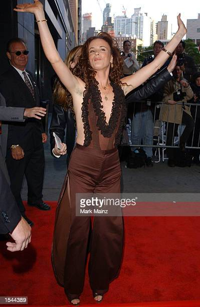 Actress Juliette Lewis arrives for the world premiere of Enough May 21 2002 at Loews Lincoln Square Theatre in New York City