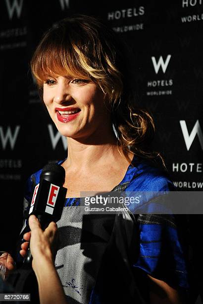 Actress Juliette Lewis at the tents in Bryant Park during MercedesBenz Fashion Week on September 8 2008 in New York City
