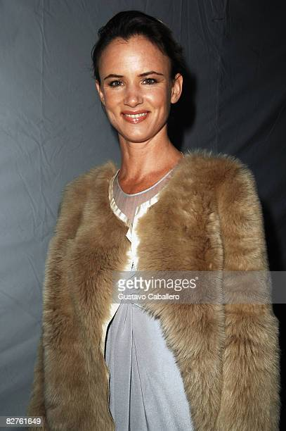 Actress Juliette Lewis at the tents in Bryant Park during MercedesBenz Fashion Week on September 10 2008 in New York City