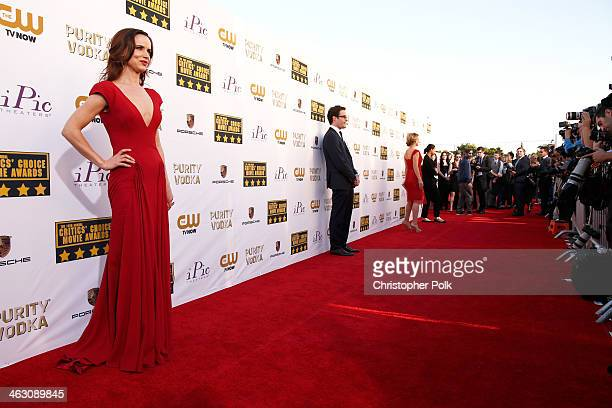 Actress Juliette Lewis attends the 19th Annual Critics' Choice Movie Awards at Barker Hangar on January 16 2014 in Santa Monica California