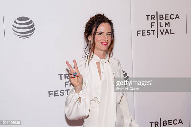 Actress Juliette Lewis attends the Festival Hub Opening Night 'Hard Lovin' Woman' during the 2016 Tribeca Film Festival held at Spring Studios on...