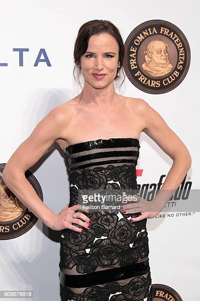Actress Juliette Lewis attends the Friars Club Honors Martin Scorsese With Entertainment Icon Award at Cipriani Wall Street on September 21 2016 in...