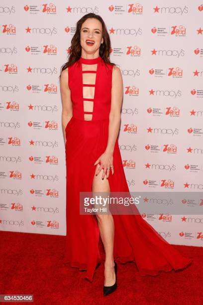 Actress Juliette Lewis attends the Go Red for Women fashion show during Fall 2017 New York Fashion Week at Hammerstein Ballroom on February 9 2017 in...