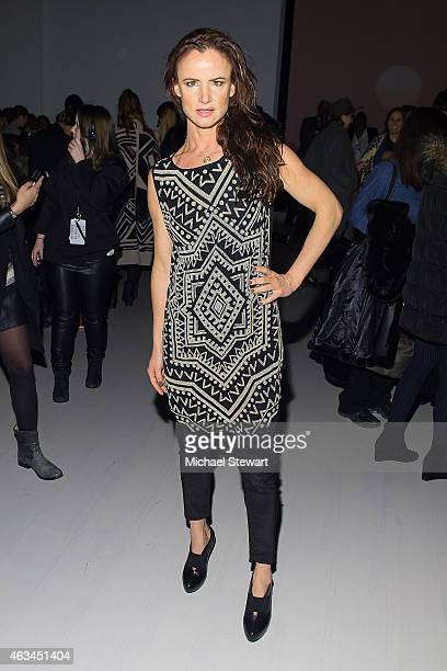 Actress Juliette Lewis attends the Mara Hoffman show during Mercedes-Benz Fashion Week Fall 2015 at The Salon at Lincoln Center on February 14, 2015...