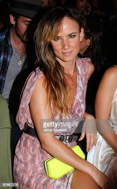 Actress Juliette Lewis attends the Zac Posen Spring 2009 at The Tent Bryant Park on September 11 2008 in New York City