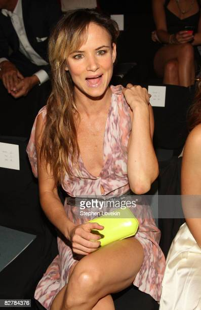 Actress Juliette Lewis attends the Zac Posen Spring 2009 fashion show during MercedesBenz Fashion Week at The Tent Bryant Park on September 11 2008...