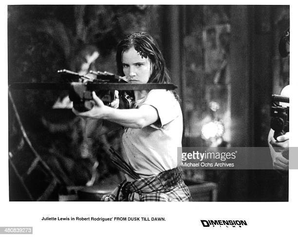 Actress Juliette Lewis in a scene from the Dimension Film movie From Dusk Till Dawn circa 1996