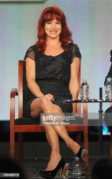 Actress Juliette Lewis speaks onstage during The Firm panel during the NBCUniversal portion of the 2012 Winter TCA Tour at The Langham Huntington...