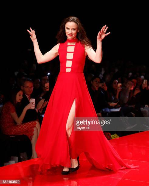 Actress Juliette Lewis walks the runway during the Go Red for Women fashion show during Fall 2017 New York Fashion Week at Hammerstein Ballroom on...