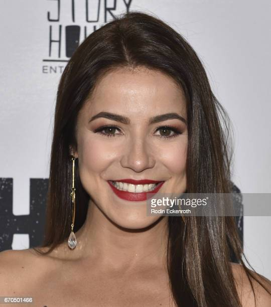 "Actress Juliette Pardau attends the premiere of Univison's ""El Chapo"" at Landmark Theatre on April 19, 2017 in Los Angeles, California."