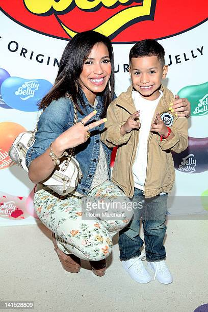 Actress Julissa Bermudez and nephew Kevin Bermudez attend the 2012 Jelly Belly Easter Egg Hunt at Dylan's Candy Bar on March 18 2012 in New York City