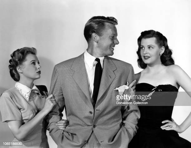 """Actress June Allyson, Van Johnson and Arlene Dahl in a scene from the movie""""The Bride Goes Wild"""""""