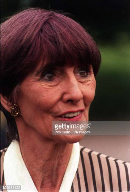 Actress June Brown who plays soap favourite Dot Cotton in the BBC's Eastenders at the funeral service of the programme's creator Julia Smith held at...