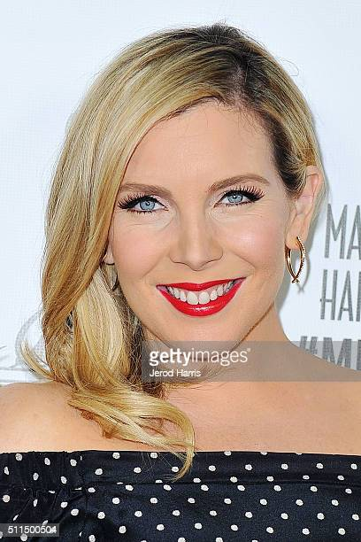 Actress June Diane Raphael arrives at the MakeUp Artists and Hair Stylists Guild Awards at Paramount Studios on February 20 2016 in Hollywood...