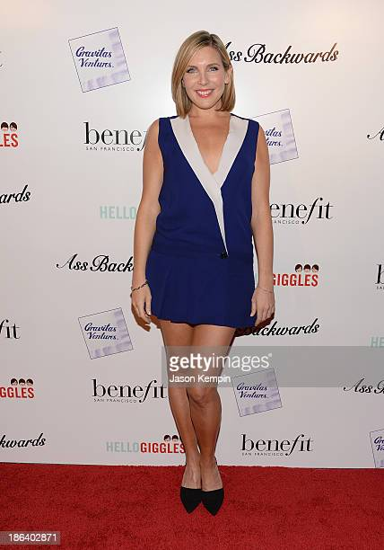 Actress June Diane Raphael attends the premiere of Gravitas Ventures' Ass Backwards at the Vista Theatre on October 30 2013 in Los Angeles California
