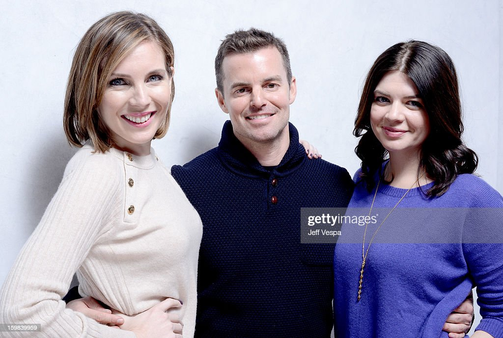 Actress June Diane Raphael, filmmaker Chris Nelson, and actress Casey Wilson pose for a portrait during the 2013 Sundance Film Festival at the WireImage Portrait Studio at Village At The Lift on January 21 2013 in Park City, Utah.