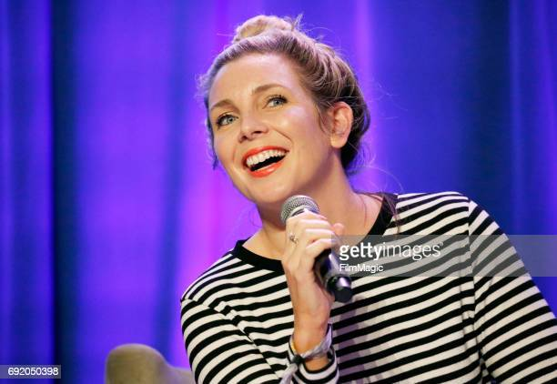 Actress June Diane Raphael performs onstage at the Larkin Comedy Club during Colossal Clusterfest at Civic Center Plaza and The Bill Graham Civic...