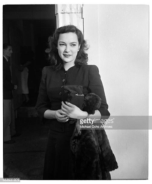 Actress June Duprez poses on the way to work in Los Angeles California