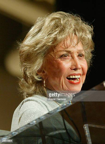 Actress June Foray on stage at The Producers Guild of America 2nd Annual Celebration of Diversity Awards held at the Regent Beverly Wilshire Hotel on...