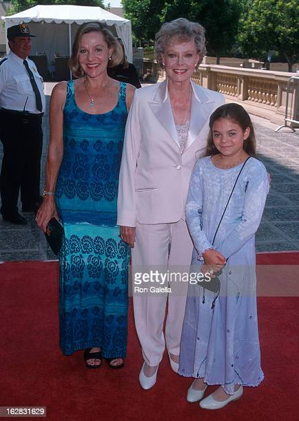 Actress June Lockhart daughter Lizabeth Lockhart and granddaughter attend the 50th Annual Primetime Emmy Awards Creative Arts Emmy Awards on August...