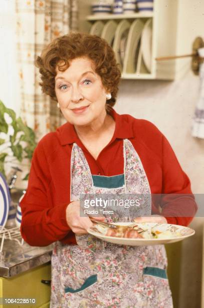 Actress June Whitfield in a scene from episode 'Magazine' of the BBC television sitcom 'Absolutely Fabulous', March 17th 1992.