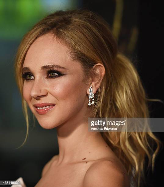 Actress Juno Temple arrives at the Los Angeles premiere of 'Horns' at the ArcLight Hollywood on October 30 2014 in Hollywood California