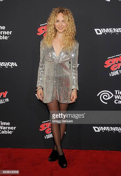 Actress Juno Temple arrives at the Los Angeles premiere of Sin City A Dame To Kill For at TCL Chinese Theatre on August 19 2014 in Hollywood...