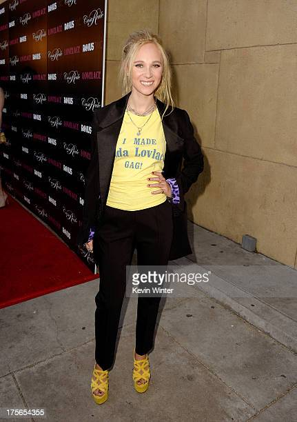 Actress Juno Temple arrives at the premiere of RADiUSTWC's 'Lovelace' at the Egyptian Theatre on August 5 2013 in Hollywood California