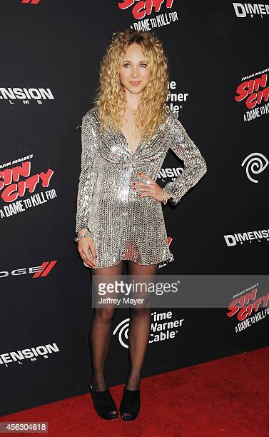 Actress Juno Temple arrives at the 'Sin City A Dame To Kill For' Los Angeles Premiere at TCL Chinese Theatre on August 19 2014 in Hollywood California