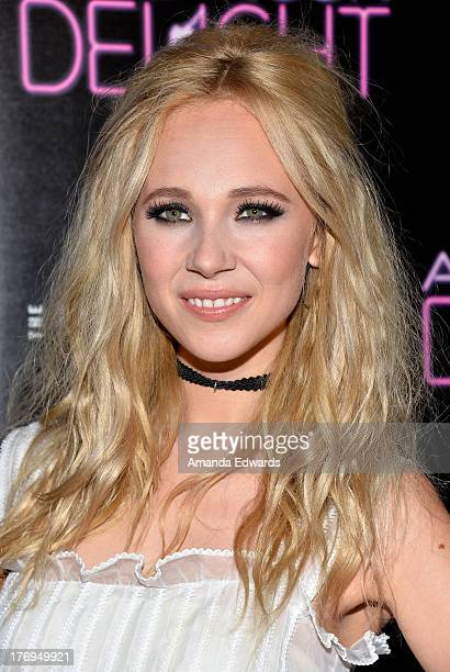 Actress Juno Temple arrrives at the Los Angeles premiere of 'Afternoon Delight' at ArcLight Hollywood on August 19 2013 in Hollywood California