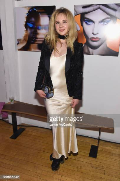 Actress Juno Temple attends Marc Jacobs Beauty Celebrates Kaia Gerber on February 15 2017 in New York City