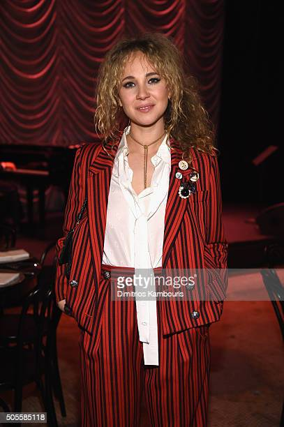 Actress Juno Temple attends Marc Jacobs Beauty Velvet Noir Mascara Launch Dinner on January 18 2016 in New York City