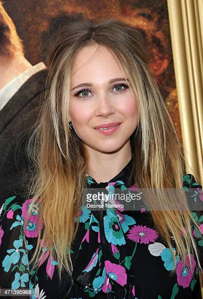 Actress Juno Temple attends the New York special screening of 'Far From The Madding Crowd' at The Paris Theatre on April 27 2015 in New York City