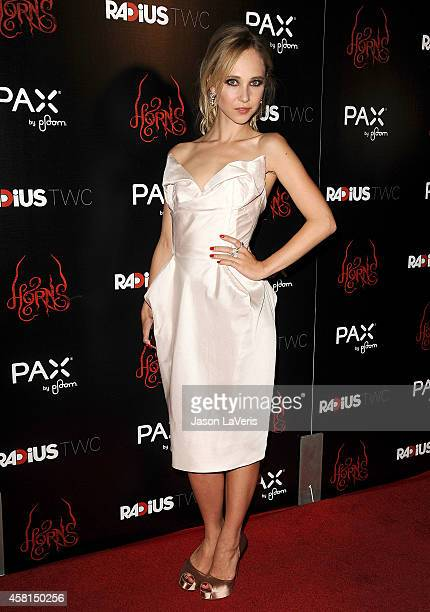 "Actress Juno Temple attends the premiere of ""Horns"" at ArcLight Hollywood on October 30, 2014 in Hollywood, California."
