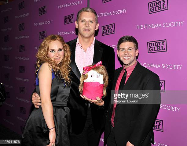 """Actress Juno Temple, director/writer Abe Sylvia and actor Jeremy Dozier attend The Cinema Society & The Weinstein Company screening of """"Dirty Girl""""..."""