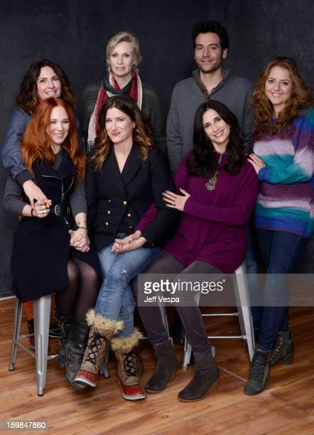 Actress Juno Temple filmmaker Jill Soloway actors Jane Lynch Josh Radnor Annie Mumolo Michaela Watkins and Kathryn Hahn pose for a portrait during...