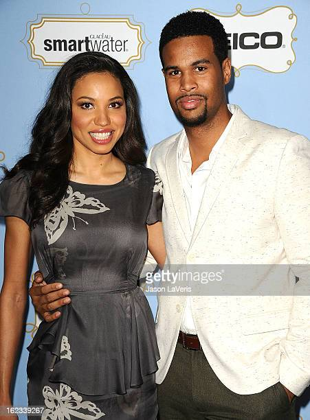 Actress Jurnee Smollett and husband Josiah Bell attend the 6th annual ESSENCE Black Women In Hollywood awards luncheon at Beverly Hills Hotel on...