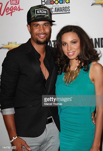 Actress Jurnee Smollett and husband singer Josiah Bell arrive for Battle of the Bands at The Joint at the Hard Rock Hotel and Casino on May 18 2012...