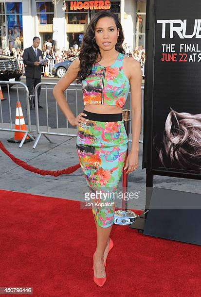 """Actress Jurnee Smollett arrives at HBO's """"True Blood"""" Final Season Premiere at TCL Chinese Theatre on June 17, 2014 in Hollywood, California."""