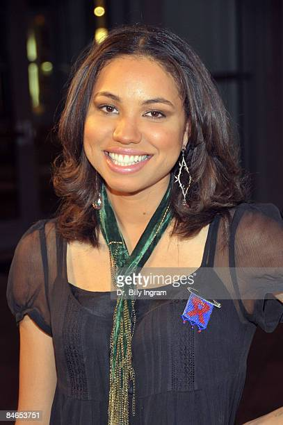 Actress Jurnee Smollett arrives at the 8th Annual Heroes In The Struggle Gala at the Walt Disney Concert Hall on February 4 2009 in Los Angeles...