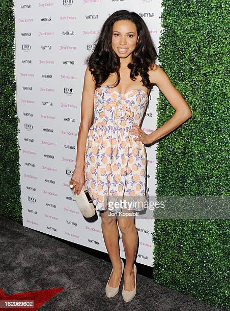 Actress Jurnee Smollett arrives at the Vanity Fair And Juicy Couture Celebration Of The 2013 Vanities Calendar at Chateau Marmont on February 18 2013...
