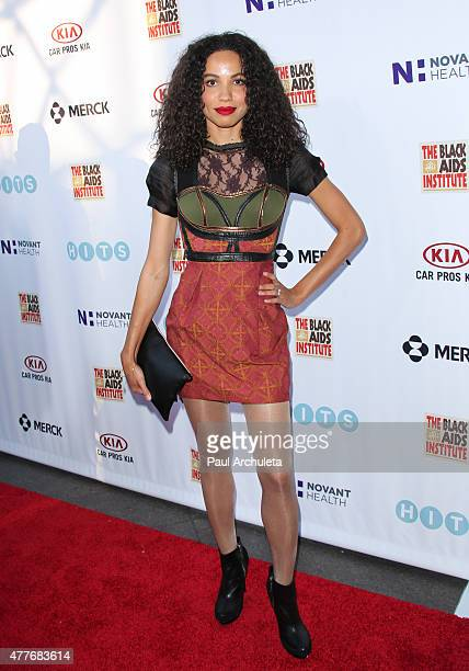 Actress Jurnee Smollett attends the Black AIDS Institutes 2015 Heroes In The Struggle gala reception and awards ceremony at The Directors Guild Of...