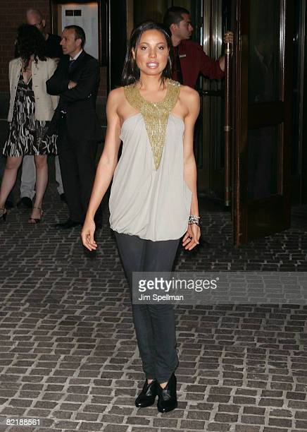 Actress Jurnee Smollett attends The Cinema Society and Glamour screening of Elegy at the Tribeca Grand Screening Room on August 5 2008 in New York...