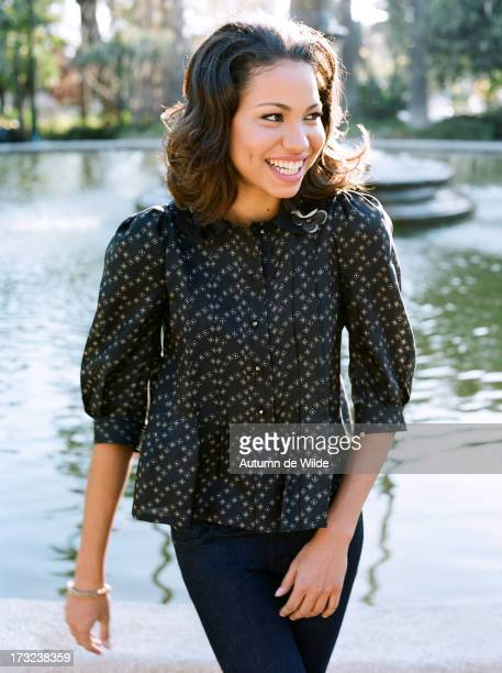 Actress Jurnee Smollett is photographed for Teen Vogue Magazine on November 1 2007 in Los Angeles California