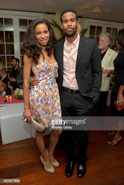 Actress Jurnee Smollett wearing Juicy Couture and husband musician Josiah Bell attend Vanity Fair and Juicy Couture's Celebration of the 2013...