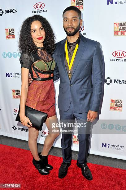 Actress Jurnee SmollettBell and actor Jussie Smollett attend the Black AIDS Institute 2015 Heroes in the Struggle Reception Gala and Awards Ceremony...