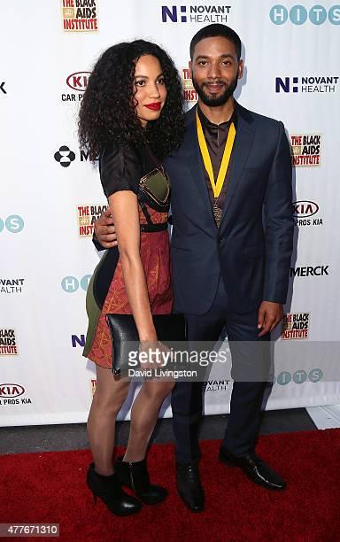 Actress Jurnee SmollettBell and brother/actor Jussie Smollett attend the Black AIDS Institute 2015 Heroes in the Struggle Gala Reception and Awards...